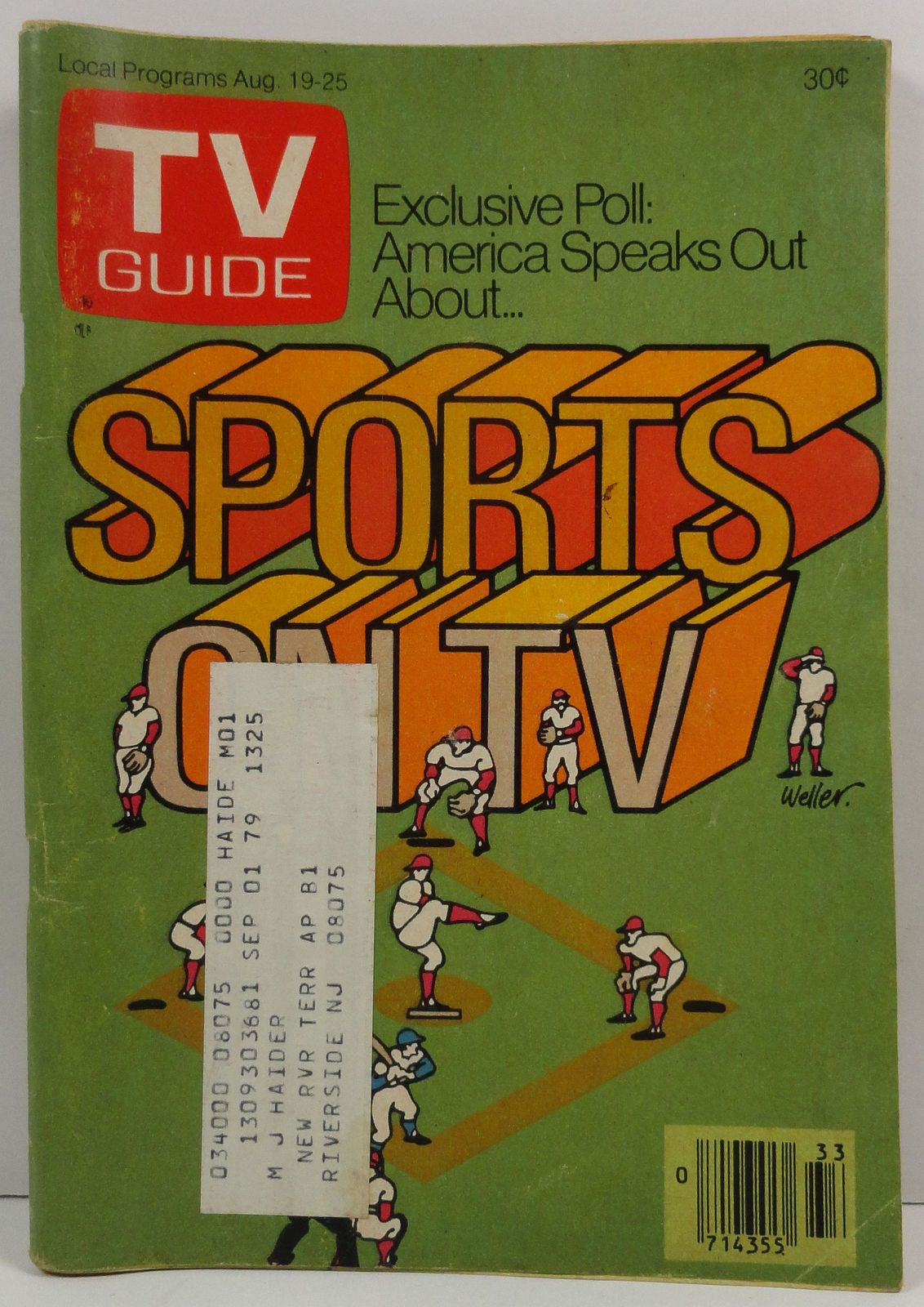 TV Guide Magazine August 19, 1978  Sports on TV