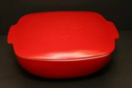 2 1/2 Qt Lid Vintage Corning Pyrex Autumn Red Hostess Oven Table Ware 1953 Rare - $177.70