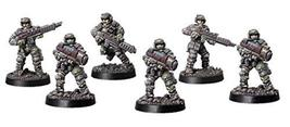 Spellcrow 28mm Miniatures Shock Troops w/ Plasma Gun Team (5)