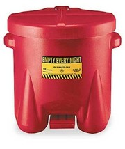 Eagle 935-FL Oily Waste Polyethylene Safety Can with Foot Lever, 10 Gall... - $54.50