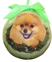 Pomeranian Christmas Ornament Shatter Proof Ball Easy To Personalize A Perfect G - $12.99