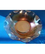 Jeannette , Lotus Iridescent marigold carnival glass fruit/ finger bowl. - $10.00