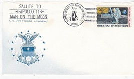 US AIR FORCE ACADEMY SALUTE TO APOLLO 11 MAN ON THE MOON SEPT 10 1969  - $1.98