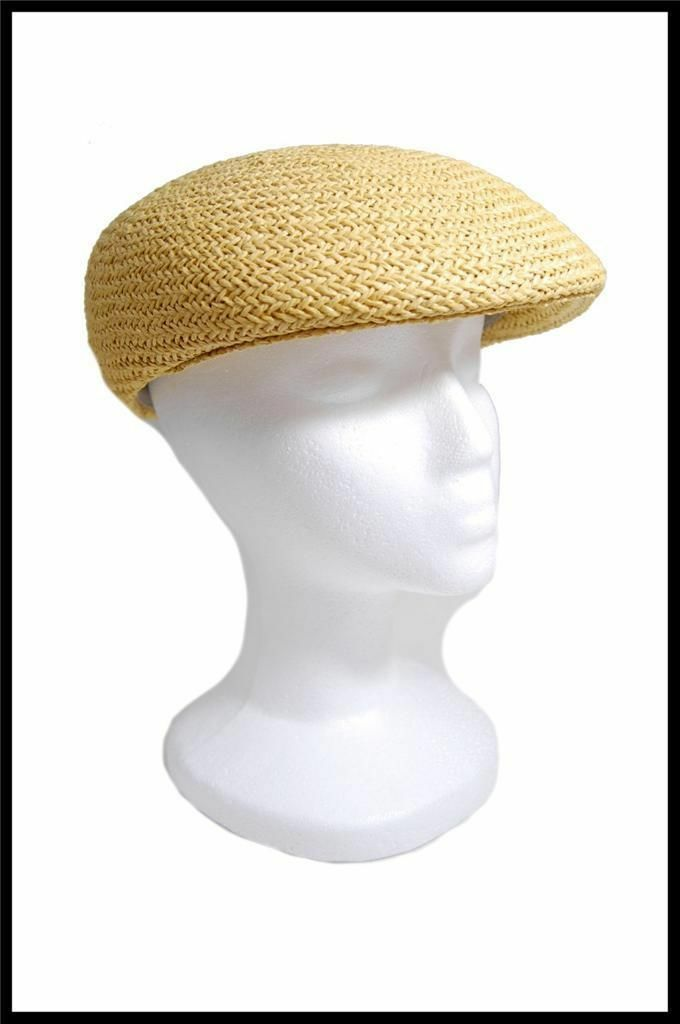 NEW Dorfman Pacific Company Straw Type Summer Hat All Natural Fibers Tan, White image 4