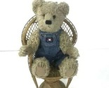 "Boyds Bears 14"" Investment Collectible Billy Bob Bruin Tan Plush Denim Overalls"