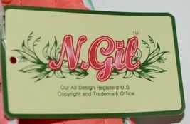 NGIL GUA2121 Quilted Pink Striped Vine Print Coral Green Diaper Bag image 11
