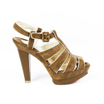 Christian Louboutin Strappy Suede Platform Sandals SZ 40 - $335.00