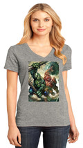Hulk VS Juggernaut District Made Ladies Perfect V-Neck T-Shirt Size XS To 4XL - $19.99+