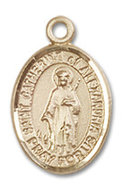 14K Gold St. Catherine of Alexandria Medal 1/2 x 1/4 inch - $224.13