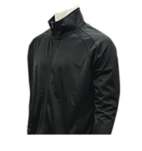 SMITTY | BKS-232 | Solid Black Officials Jacket w/ Knit Cuff | Referee's... - $49.99
