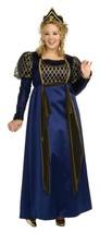 Queen Renaissance Gown Costume Plus Size 16-22 Rubies Blue Gold Crown NEW - $68.71
