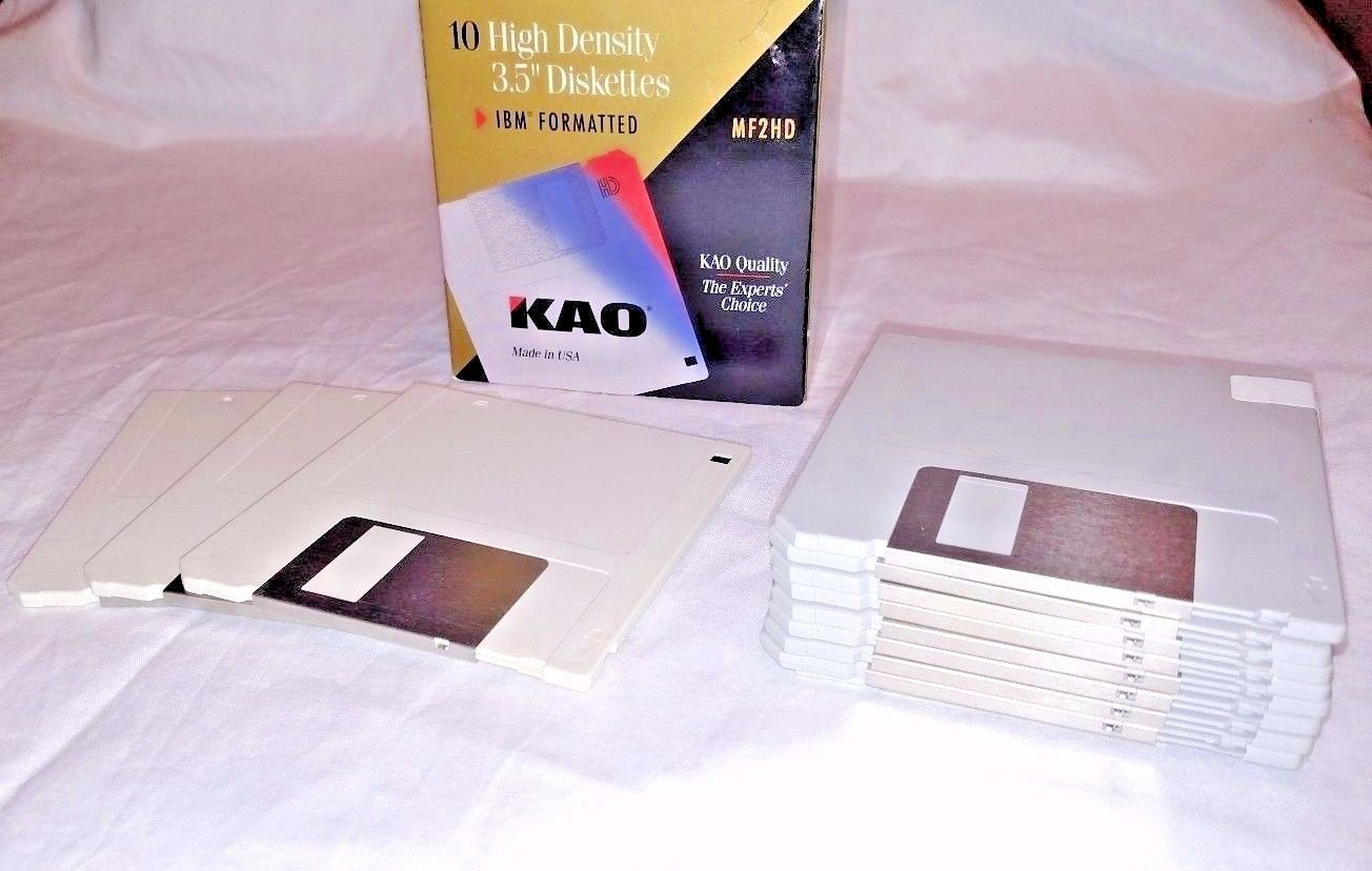 Imation 2HD IBM formatted Diskettes 30 Disks Never Opened Sealed 1.44 MB