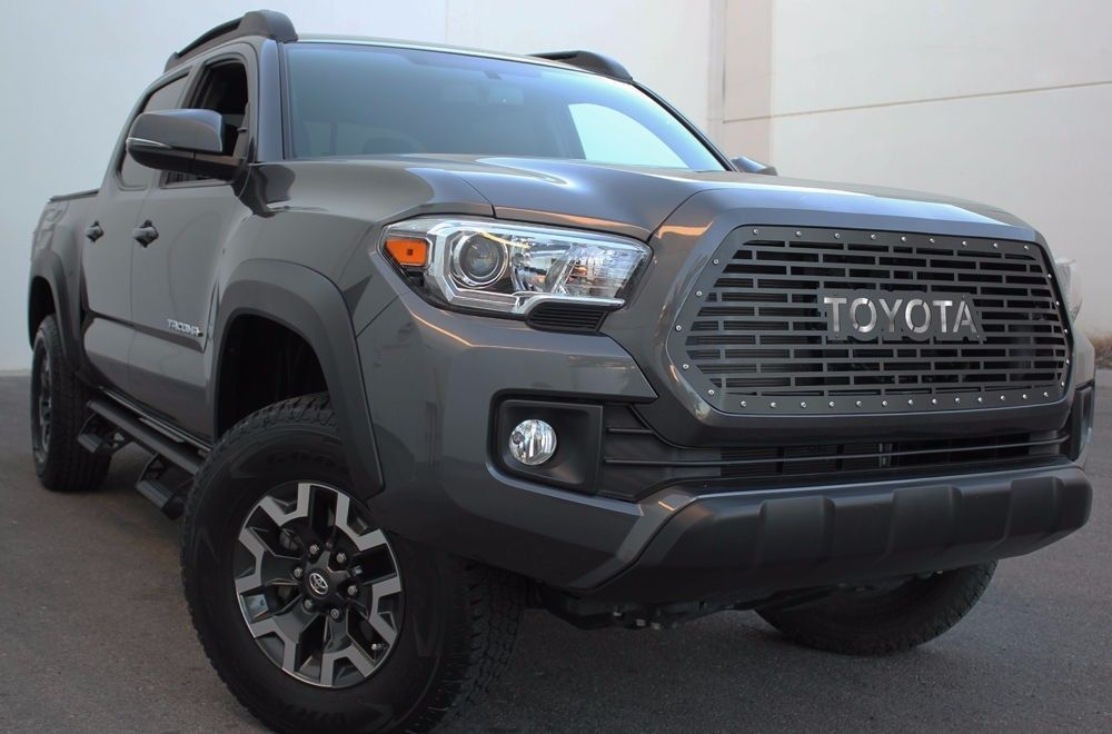 steel aftermarket grille 2016 2017 toyota tacoma trd grill. Black Bedroom Furniture Sets. Home Design Ideas