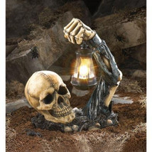 Escaping the Grave Ghostly Ghoulish Skeleton Skull & Arm Halloween Lante... - ₨4,174.20 INR