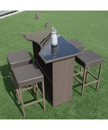 5 pcs Rattan Wicker Dining Table Set - $240.49