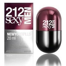 212 Sexy Men Pills by Carolina Herrera, 0.68 oz 20 ml Eau de Toilette Sp... - $32.30