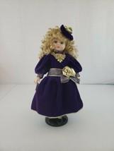 """1997 Camellia Garden Collection 16"""" Genuine Porcelain Doll Velvet Purple... - $32.00"""