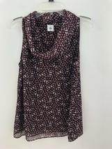 Cabi 3271 Venus Cowl Drape Neck Blouse Top Womens Medium Sleeveless Blac... - $11.53