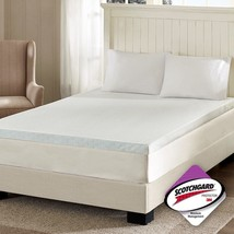 "Luxury 3"" White Memory Foam Mattress Topper w/3M Moisture Management - A... - $123.49+"