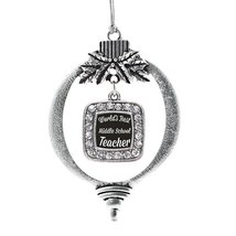 Inspired Silver World's Best Middle School Teacher Classic Holiday Decoration Ch - $14.69