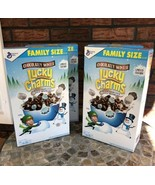 Chocolate Lucky Charms Cereal Family Size 4 Boxes 21.2 Ounces Limited Ed... - $34.65