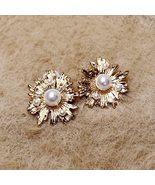 Vintage stud earrings with pearls - $18.00