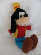 "Goofy 2 Plush Disney Store Can Ad A Trading 15"" Yellow HAT-BLUE PANTS-TV-CARTOONS - $19.20"