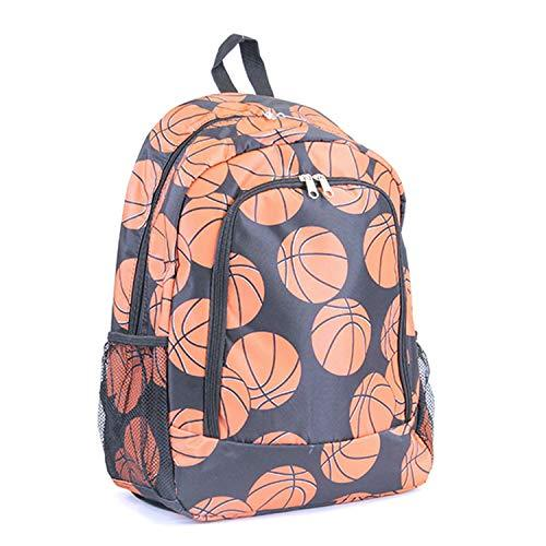 "Basketball Print 16"" School Backpack"