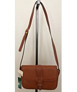 NWT MICHAEL STEVENS pebbled tan Adjustable strap Crossbody handbag purse - $24.74
