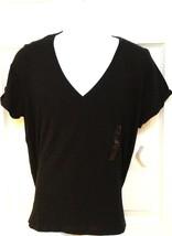 Polo Ralph Lauren Mens T-Shirt Black V-neck Short Sleeve Xl 100% Cotton New Tag - $24.95