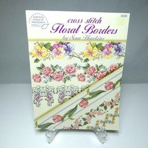 American School of Needlework Cross Stitch Floral Borders Booklet 3538 V... - $9.85