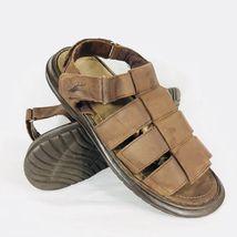 amp; STAGS Sandals Hook 16M Loop Brown Chocolate Mens Strap Sz Leather Puerto DEER 0xYnd0