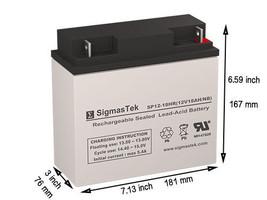 12 Volt 18 AH APC RBC55 Replacement battery by SigmasTek - $42.56