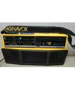 Vintage Magnavox D8300 Boombox Radio Dual Cassette Recorder MDHQ 5 Speaker  - $147.40