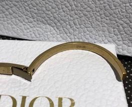 AUTH Christian Dior 2019 J'ADIOR AGED GOLD BRACELET CUFF BANGLE image 11