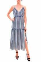 Finders Keepers Romantic Marconi Dress Blue Geo Print S RRP $170 BCF710 - $103.35