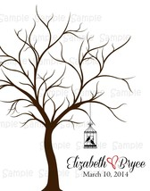 Fingerprint Tree, Thumbprint, Wedding, Personalized, Birthday, Shower - $9.50