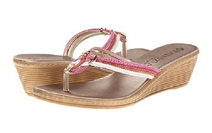 Patrizia Womens Raphia Pink , Size US 8.5, EUR 39, Made in Italy