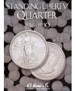 Standing Liberty Quarters Coin Folder Album, 1916-1930 by H.E. Harris - $8.49