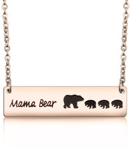 MAOFAED Sweet Mama Bear Necklace for Mom Grandma Wife Godmother Necklace... - $43.95
