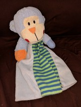 Hard To Find  Baby Essentials Blue Monkey Security Blanket/Lovey - $29.02