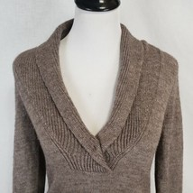 J Crew Womens Gray Shaw V-Neck Sweater Size S Acrylic-Alpaca-Wool Blend - $23.36