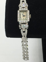 Antique Women's Hamilton Platinum 4.50ct Diamond Watch - $4,450.00