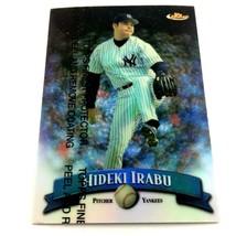 1998 Topps Finest Refractor Hideki Irabu Parallel Card #52 New York Yankees - $3.91