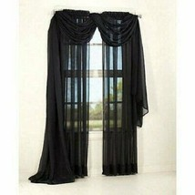 Mainstays Marjorie Sheer Voile Curtain Panel 59 in x 63 in, New, Ships Free - $11.74
