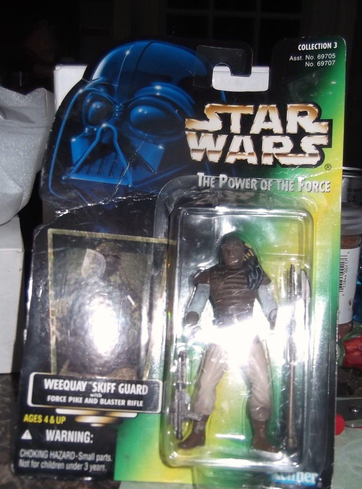Star Wars Power of the Force Holo Foil Weequay Skiff Guard figure Action- & Spielfiguren