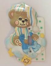 Vtg Teddy Beddy Bear Switch Plate Morgan Plastic Baby Nursery Light Swit... - $15.84