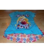 Size Medium 7-8 Frozen Anna & Elsa Sisterly Bond Turquoise Floral Shirt ... - $15.00
