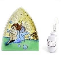 Fused Art Glass Garden Fairy Design Night Light Handmade in Ecuador