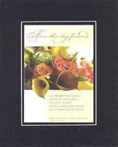 From this day forward 8 x 10 Inches Biblical/Religious Verses set in Double Beve - $11.14